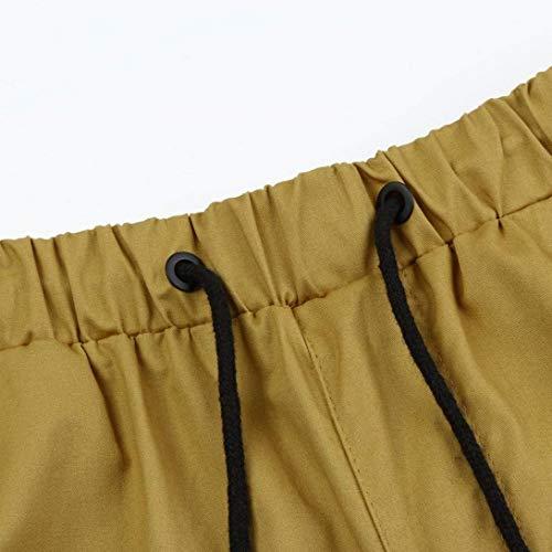 Pantalon Confortable Casual Frashing Cargo Sport Élastique Hommes Automne Design Vie Jogging Hiver Heren Kaki a4rxBSa