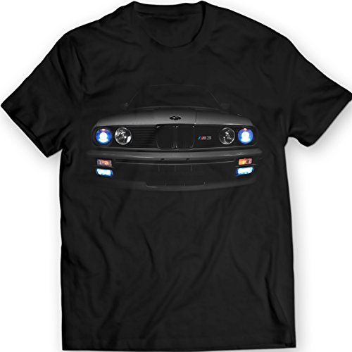 BMW E30 M3 T-Shirt Headlights 3 Series Horse Power (XL, Black) - 64000 Series