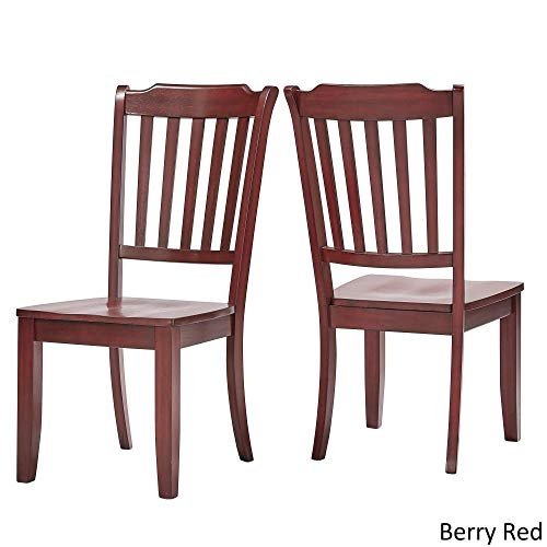 Inspire Q Eleanor Slat Back Wood Dining Chair (Set of 2) by Classic Red Antique
