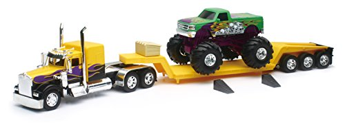 Kenworth 1:32 W900 Lowboy with Monster Truck for sale  Delivered anywhere in USA
