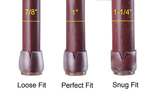 Duroetui 174 24 X Pcs Chair Leg Caps Furniture Feet Pads