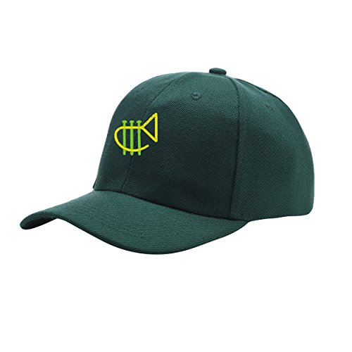 NeeKer Marching Tuba Green Peaked Hat Embroidered Logo Adjustable Fish Cap ()