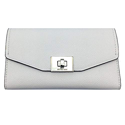 (Michael Kors Cassie Large Trifold Wallet (White) )