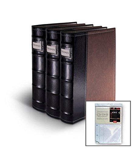Bellagio-Italia Brown Leather Disc Storage Binder Perfect...