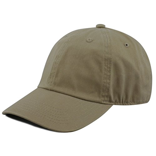 THE HAT DEPOT 300N Washed Low Profile Cotton and Denim Baseball Cap (Olive) -