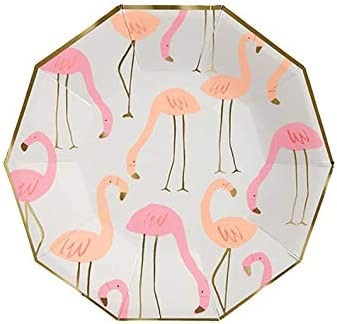Pink Flamingo Party Plates Tropical Themed Party Plates AppetizerDessert Plates