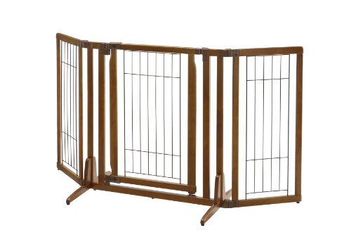 Richell Premium Plus Freestanding Pet Gate with -