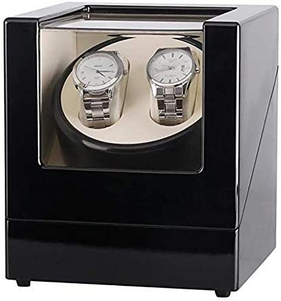 GOHHK Watch Winder Automatic 2 Relojes Caja PresentacióN MecáNica, Watch Winders para Relojes AutomáTicos Estuches para Relojes con BateríA Estuches para Relojes Winders Estuche Almacenamiento Negro: Amazon.es: Hogar