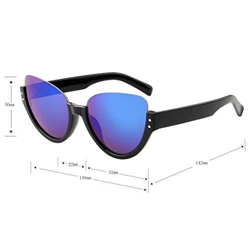 LianSan Half Aviator Sol único UV de Protección nbsp;Azul Frame Gafas Gafas ls4703 Xr5X1q