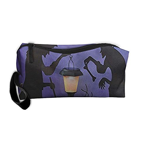Witch Cauldron Handbag (New Sale Witch Cauldron Pot Solar Lighted Lantern Halloween Silhouette Travel&home Portable Make-up Receive Bag Storage Bag Buggy Bag)