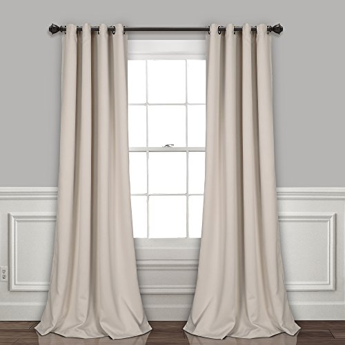 Lush Decor Curtains-Grommet Panel with Insulated Blackout Lining, Room Darkening Window Set (Pair) 108