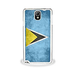 Flag of Saint for Lucia - Samsung Galaxy Note 3, Cell Phone Cover - White a Case SALE they the