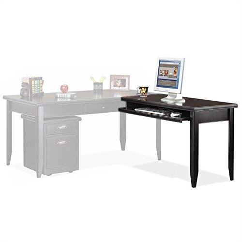Martin Furniture Tribeca Loft Desk and Return (Black) (See Description)