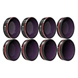 Freewell All Day - 4K Series - 8Pack ND4, ND8, ND16, CPL, ND8/PL, ND16/PL, ND32/PL, ND64/PL Camera Lens Filters Compatible with DJI Osmo Action Camera