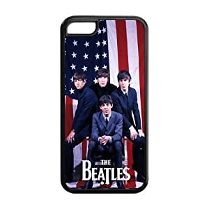 Rock Band The Beatles Durable TPU Protective Snap On Case For iphone 5c (Black, White) Kimberly Kurzendoerfer
