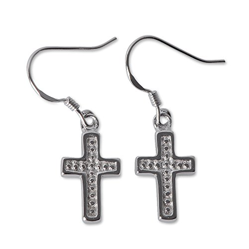 Sterling Silver Cross Dangle Earrings product image
