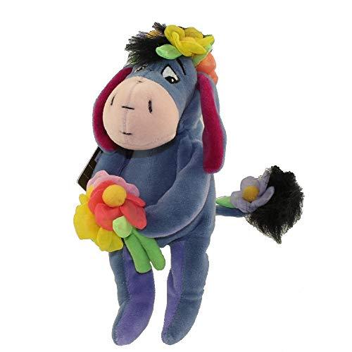 Retired Disney Winnie the Pooh 8 Inch Plush Flower Power Eeyore Doll