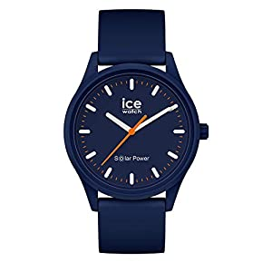 Ice-Watch – Ice Solar Power Atlantic – Montre Bleue Mixte avec Bracelet en Silicone – 017766 (Medium)