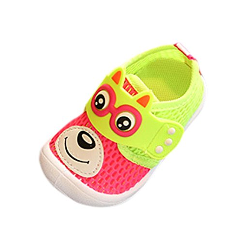 Baby Squeaky Shoes,SMYTShop Baby's Boy's Girl's Mesh Hook-and-Loop Light Weight Sneakers Athletic Running Shoes (2 Years, Red)
