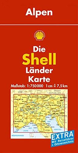Alpen: 1:750000 (Shell Länderkarte)