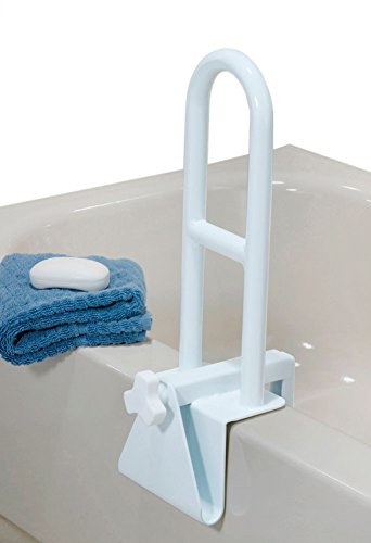 Bar Shower Suction (Medline Bathtub Safety Grab Bar, Handle Clamps on to Side of Bathtub Shower, Medical Tub Rail for Bathrooms is Great Elderly or After Surgery)