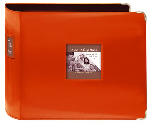 pioneer-sewn-leatherette-3-ring-binder-12x12-bright-orange