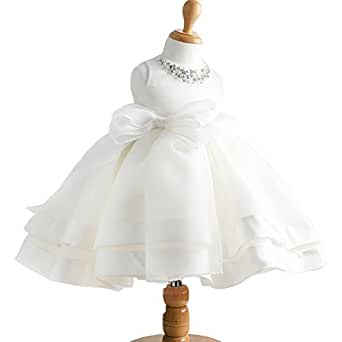 Amazon.com: Moon Kitty Baby Girl Dress Christening Baptism ...