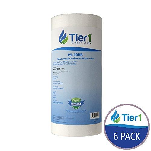 Tier1 DGD-5005 5 Micron 10 x 4.5 Spun Wound Polypropylene Sediment Pentek Replacement Water Filter 6 Pack