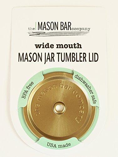 THE MASON BAR COMPANY Gold Wide Mouth Mason Jar Tumbler Lid