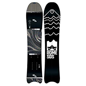 Rome Snowboards Pow Div Moontail Split Snowboard, Black, 156Mt Split