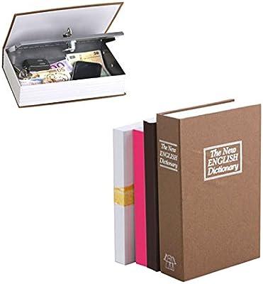 Balvi Caja Fuerte English Dictionary Color marrón En Forma de Libro con Llaves para esconder Dinero y Otras Cosas de Valor Acero/plástico 24cm: Amazon.es: Hogar