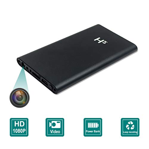 Spy Camera 5000mAh Power Bank Hidden Camera HD 1080P Video Recorder Nanny Mini Security Camera, No WiFi Need