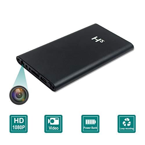 Spy Camera 5000mAh Power Bank Hidden Camera HD 1080P Video Recorder Nanny Mini Security Camera, No WiFi Need