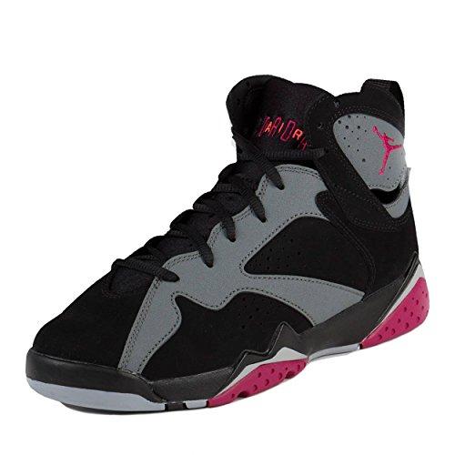 Nike Boys Air Jordan 7 Retro GG Sport Fuchsia Black/Sport Fuchsia-Cool Grey Suede Size 6Y