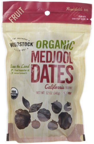 Woodstock Organic California Medjool Dates, 12 oz (Dates Woodstock)