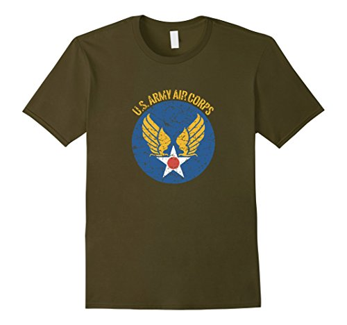 Mens Vintage Army Air Corps Distressed T Shirt - 20457 2XL (Vintage Us Air)