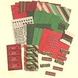 Creating Keepsakes Holiday Card Kit-Kit #1 - Red/Dark Green XMK-005