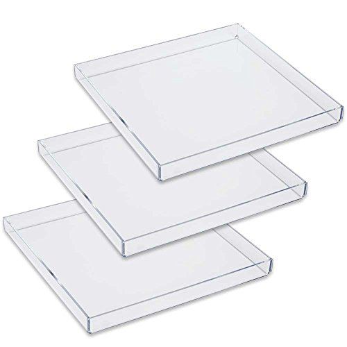 Mirart Acrylic Tray 10 x 10 (3 Pack) ()