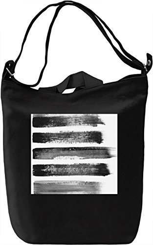 Black Lines Full Print Borsa Giornaliera Canvas Canvas Day Bag| 100% Premium Cotton Canvas| DTG Printing|