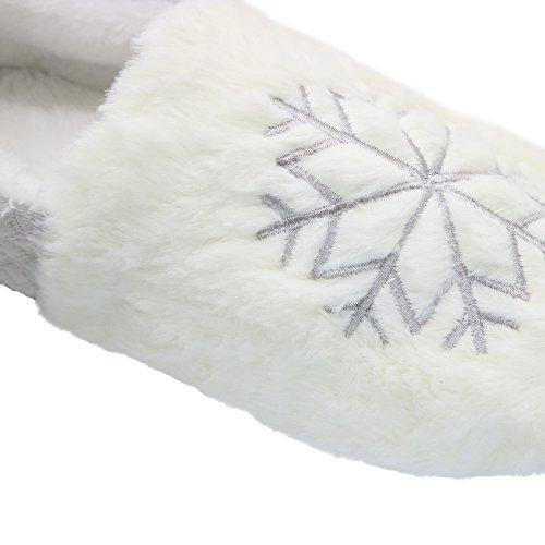 Bestfur Comfortabel Comfortabel Ademend Van Vrouwen Waterdicht Yoga Huis Pantoffels Schoenen Grijze Sneeuwvlok