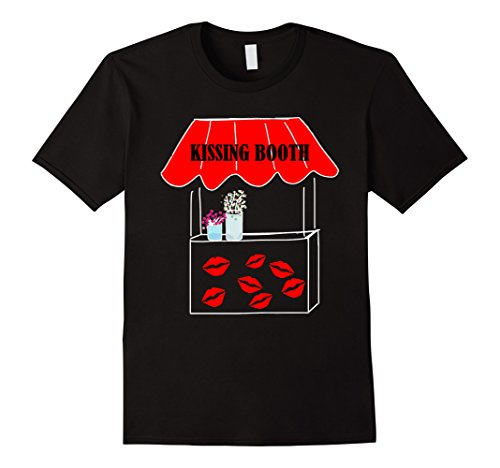 Kissing Booth Free Kisses Funny Valentine's Day T-Shirt
