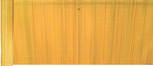 EXCOLO PVC inkijkbescherming windscherm privacy voor balkon tuin terras plus bevestiging in beige licht bamboe geel geel H 100 cm x L 500 cm beige