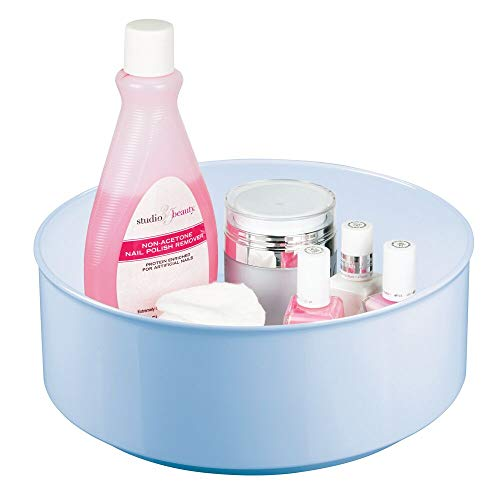 mDesign Plastic Spinning Lazy Susan Round Turntable Tray – Storage Organizer for Makeup, Cosmetics, Nail Polish…