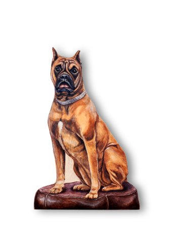 Stupell Home Décor Boxer Decorative Dog Door Stop, 18 x 0.5 x 13, Proudly Made in USA
