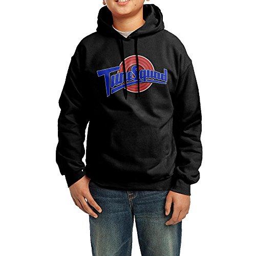 Pewter Space Dye (Michael Jordan Space Jam Logo Teenager Sweatshirt Pullover Hoodie Long-Sleeve Black)