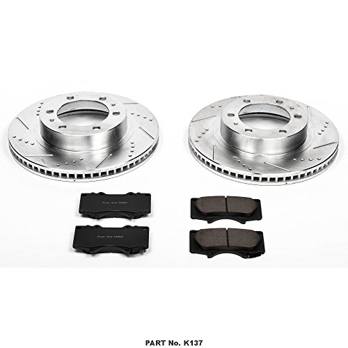 Power Stop K137 Front Z23 Evolution Brake Kit with Drilled/Slotted Rotors and Ceramic Brake Pads by Power Stop (Image #1)'