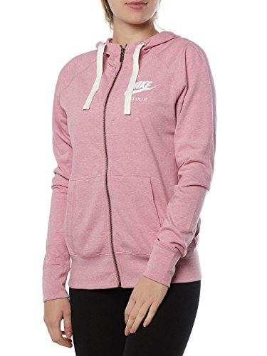 Nike Sportswear Gym Vintage Hoodie Elemental Rosa / Seil