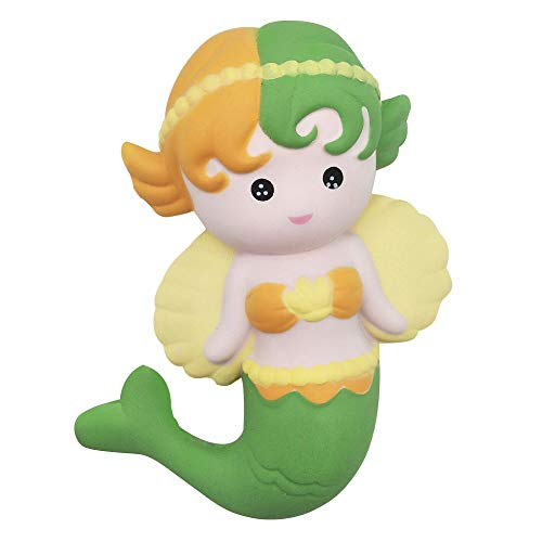 (AGUIguo Stress Reliever Toys, Slow Rise Kawaii Scented Cute Angle Mermaid Shape, Soft Rebound Toy, Stress Reliever (C))