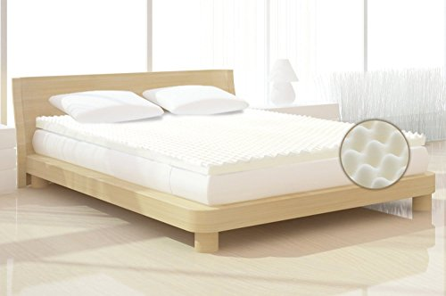 Milliard 2-Inch Egg Crate Ventilated Memory Foam Mattress Topper, King (Convoluted Mattress Cushion)