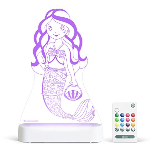 Mermaid Light (Aloka Mermaid Starlight Multi-Colored LED Light with Remote Control, Mulit-Color Chaning, 8 inch)